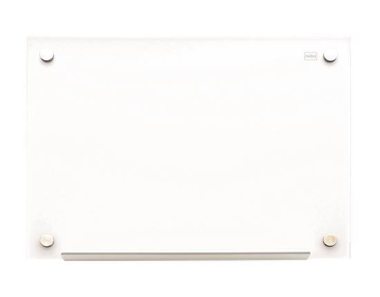 Tablica szklana Nobo Diamond 90 x 60 cm, biała