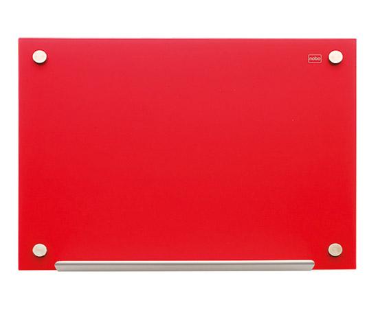 Tablica szklana Nobo Diamond 90 x 60 cm, czerwona