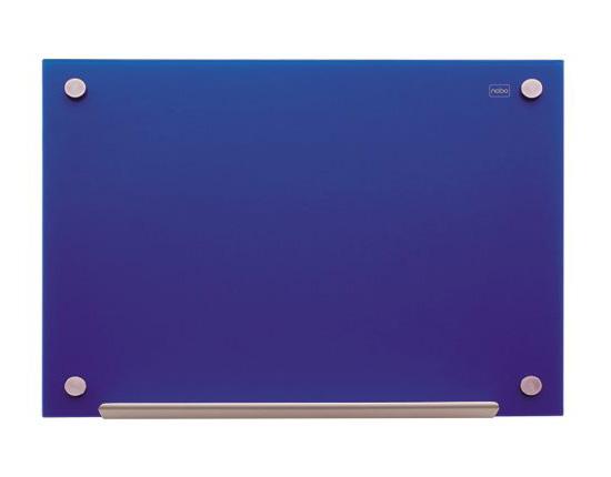 Tablica szklana Nobo Diamond 90 x 60 cm, niebieska