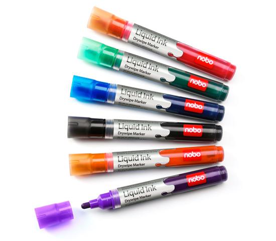 Markery Liquid Ink różne kolory - 12 szt.