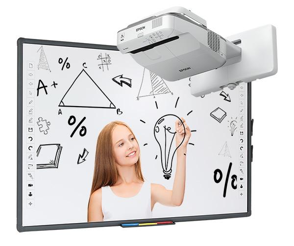Tablica interaktywna Avtek TT-BOARD 80 z projektorem ultrakrótkoogniskowym Epson EB-670