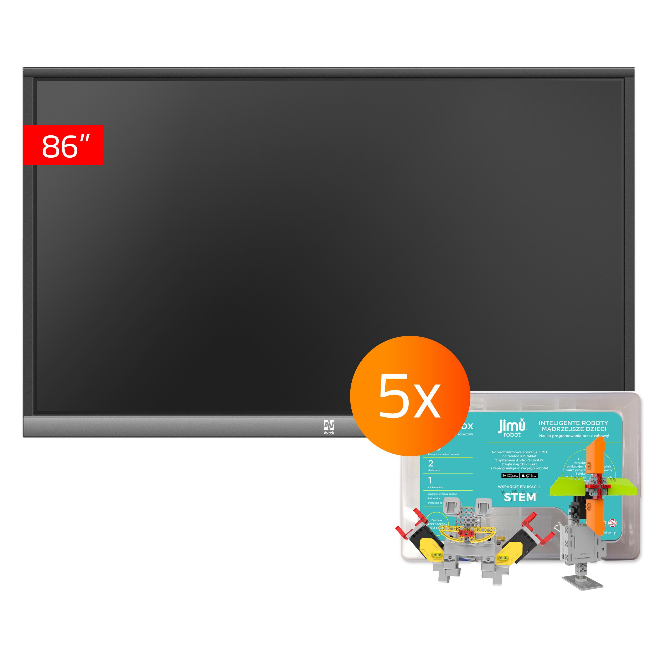 Zestaw 16 - 1x TouchScreen 5 Lite 86, 5x Jimu Box