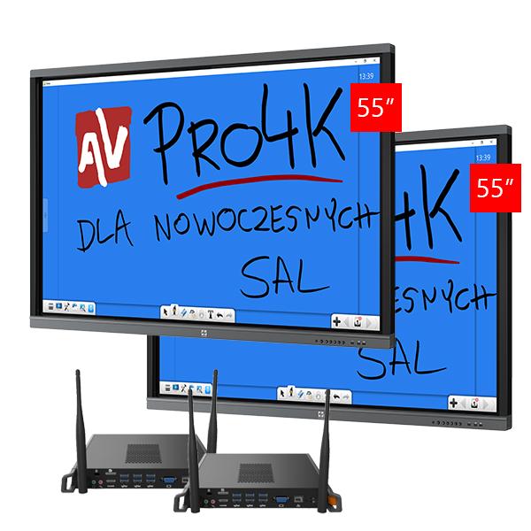 Zestaw Monitor 1 (2x Avtek TouchScreen 55 Pro4K + 2x Avtek OPS Pro4K Celeron)