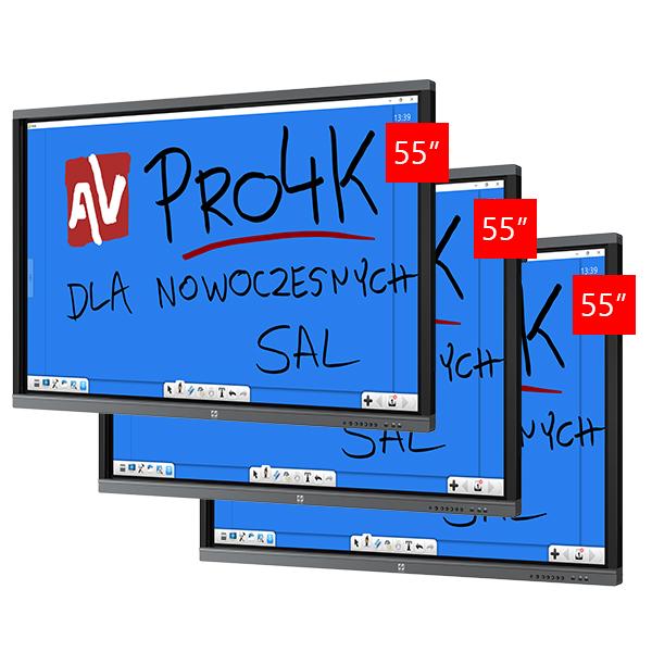 Zestaw Monitor 5 (3x Avtek TouchScreen 55 Pro4K)