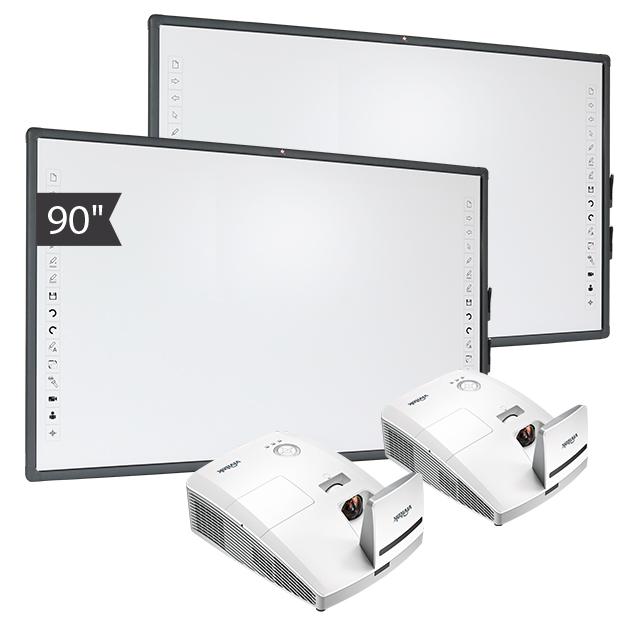 Zestaw Tablica 8 (2x Tablica interaktywna Avtek TT-BOARD 90 + 2x projektor ultrakrótkoogniskowy Vivitek D757WT)