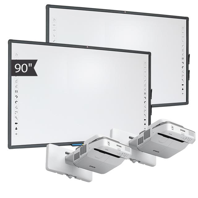 Zestaw Tablica 9 (2x Tablica interaktywna Avtek TT-BOARD 90 PRO + 2x projektor ultrakrótkogniskowy Epson EB-685W)